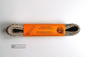 Льняная веревка для шибари Iponnawa